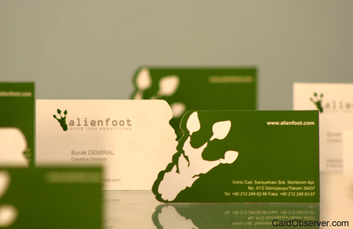 Alien Foot Business Card