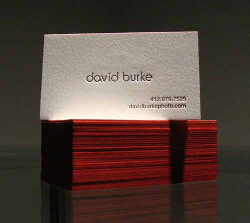 David Burke Business Card