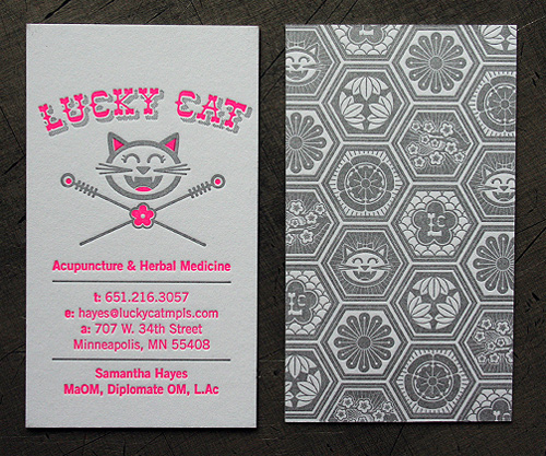 Lucky Cat Business Card