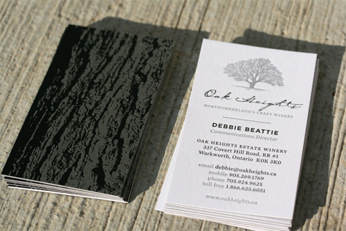 Oak Heights Business Card