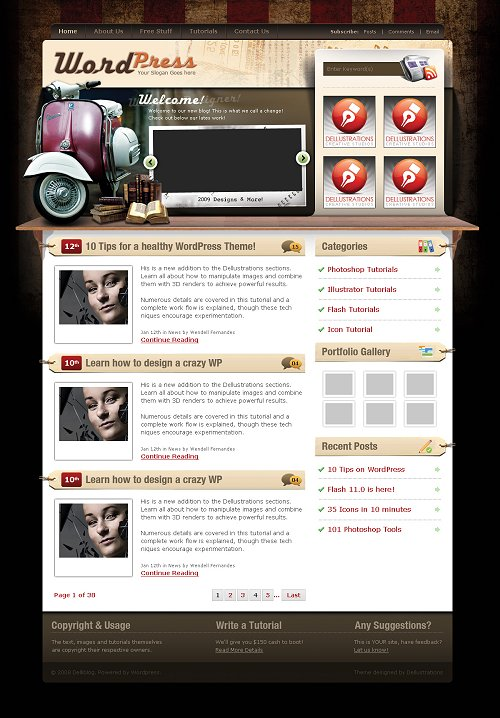 vintage-wordpress-theme