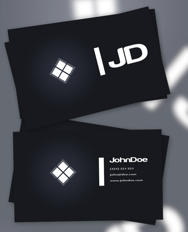 12 usable free business card templates creativeoverflow we flashek Gallery