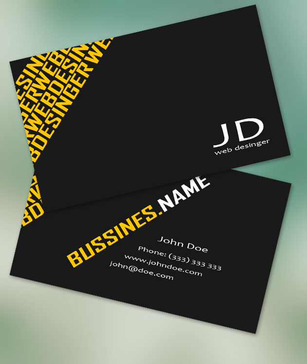 12 usable free business card templates creativeoverflow we wajeb