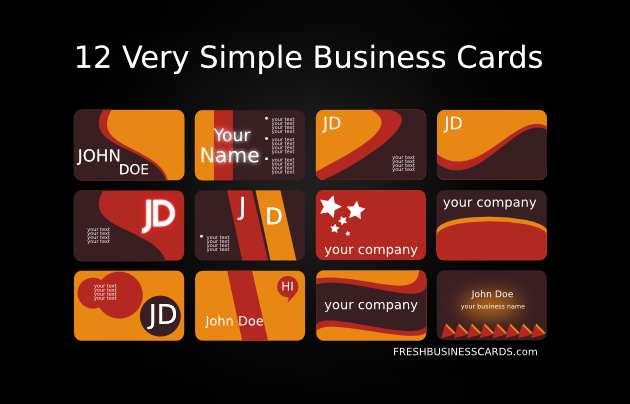 12 usable free business card templates creativeoverflow we reheart Image collections
