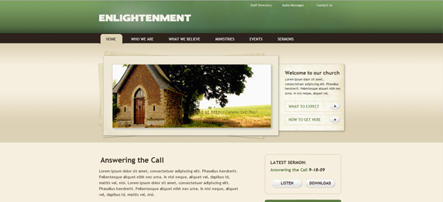 enlightenment church site template 14