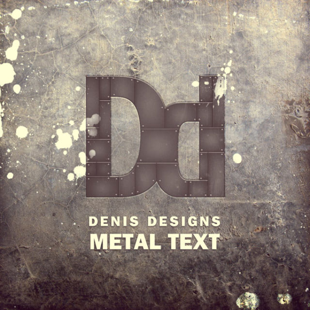 Poster Design Tutorials - Create a Retro Metal Text Poster in Photoshop