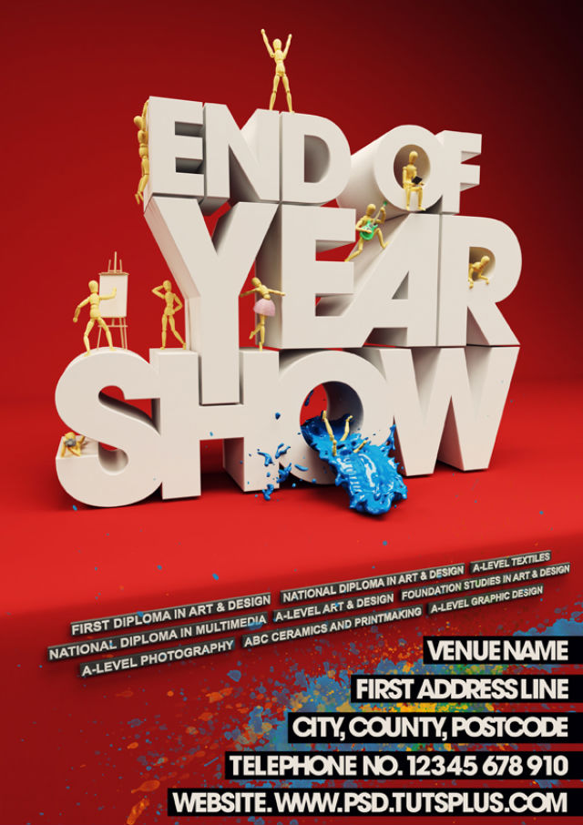 Poster Design Tutorials - Create an Event Poster with C4D and