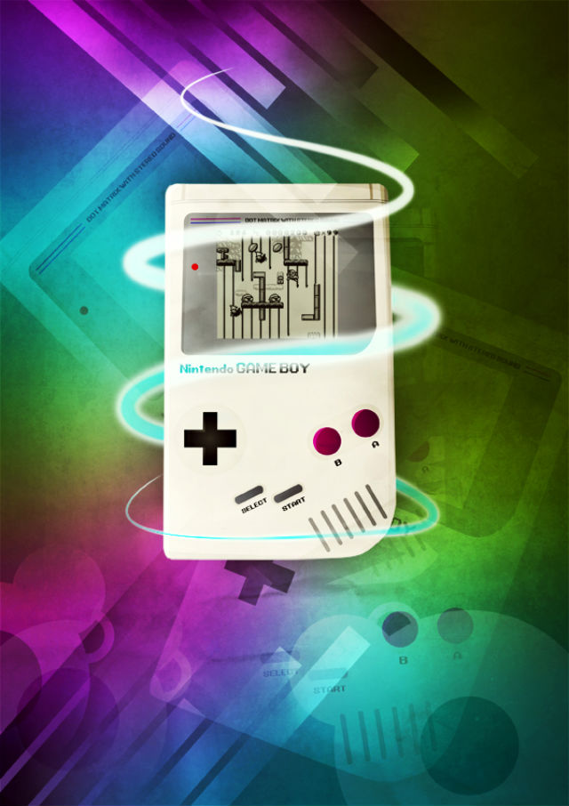 Poster Design Tutorials - Design a Stylish Retro Game Boy Poster in Photoshop