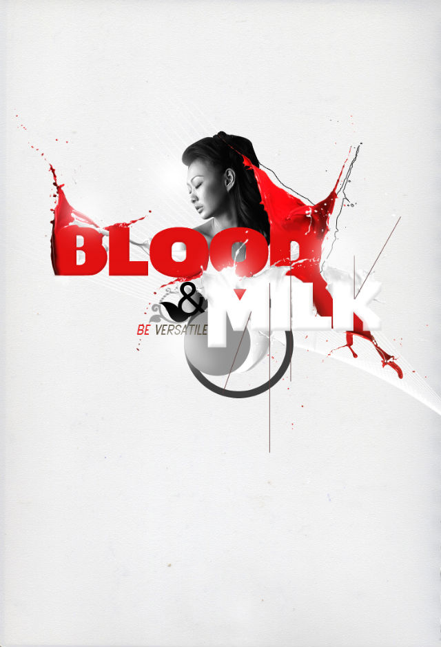 Poster Design Tutorials - Create Blood and Milk Typography Poster in Photoshop