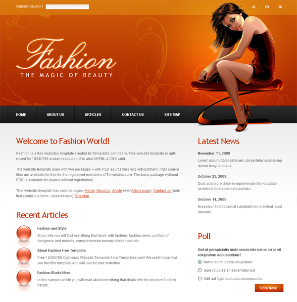 20 Beautiful Free XHTML/CSS Templates | Creativeoverflow