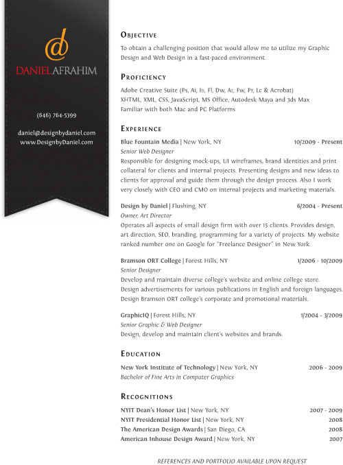 freelance resume design images