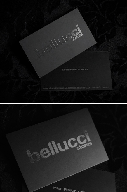 When less is more 26 magnificent minimalist business cards when bellucci high class clothing stores wanted business cards they were never going to be oddly shaped or made out of some strange material colourmoves