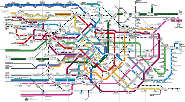 Tokyo Subway Map In English In The Station.The Top 5 Subway Maps Of The World Creativeoverflow