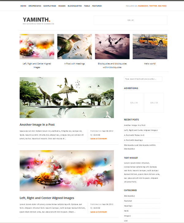 25 Latest Free Wordpress Themes | Creativeoverflow