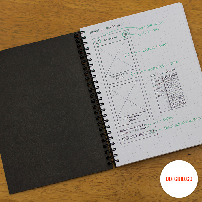 10  off dot grid books for first ten people