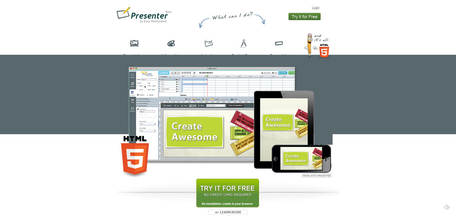 Create HTML5 Interactive Presentations, Animations, infographics & banners - HTML5 Presenter by Easy WebContent_20130625-153527