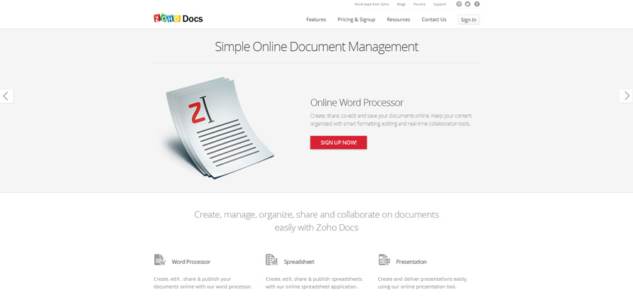 Document Management Software_Manage Documents Online_Zoho Docs_20130625-153756