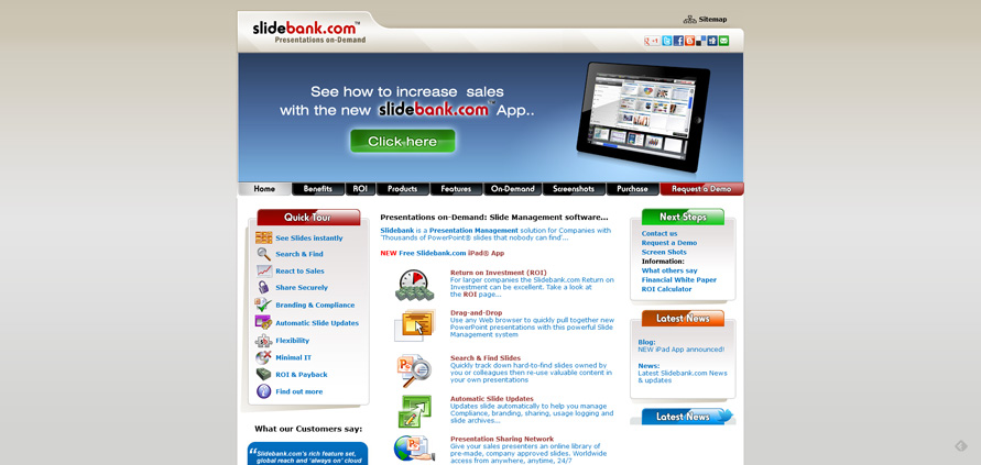 Presentation Management Software. PowerPoint Slide Library • SlideBank.com_20130625-153625