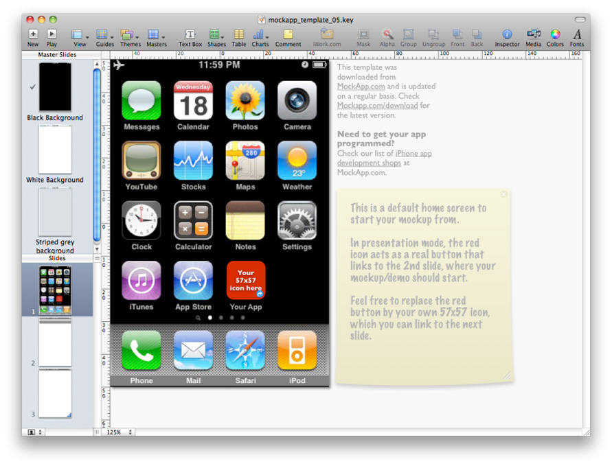 mockapp posts free iphone keynote templates download here