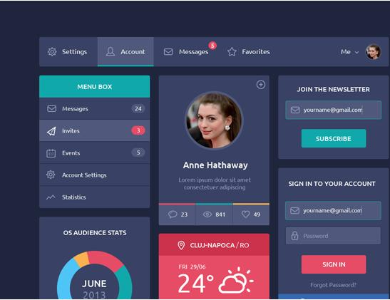 Flat Design UI Contents