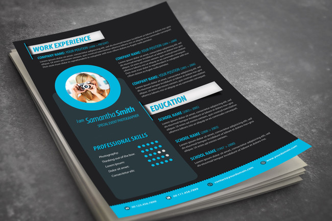 eye catching resume template
