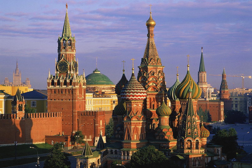 St. Basil£§s Cathedral and Kremlin. Moscow. Russia